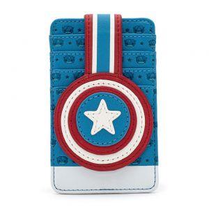 Loungefly Marvel Captain America Debossed Shield Cardholder - MVWA0111