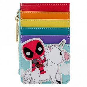Loungefly Pop by Marvel Deadpool 30th Anniversary Unicorn Rainbow Cardholder