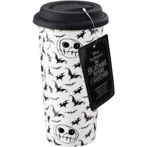 Disney Nightmare Before Christmas Sketchy Bats and jack Lidded Mug - NBC05927