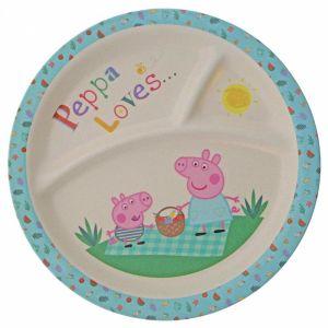 3 x Peppa Pig Bamboo Plate