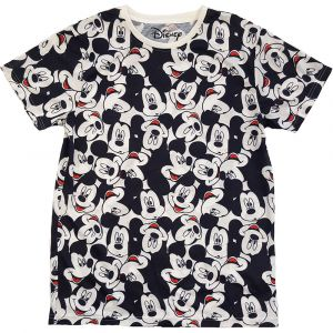 (GIFT WITH PURCHASE) Disney Unisex T-Shirt Mickey Mouse AOP Heads - Minimum Spend £25
