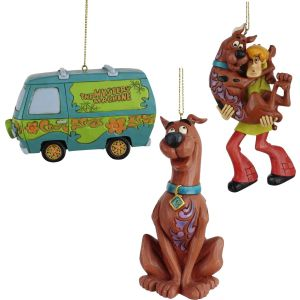 Set of 3 Jim Shore Scooby Hanging Ornaments