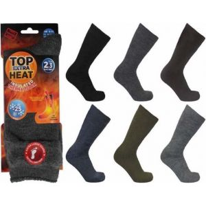 6 X Men's Extra Thick Insulated Thermal Socks - Colours May Vary