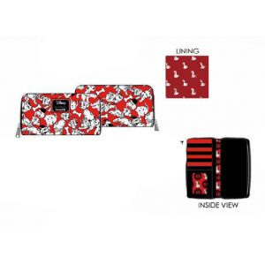LOUNGEFLY DISNEY 101 DALMATIONS 70TH ANNIVERSARY AOP ZIP AROUND WALLET