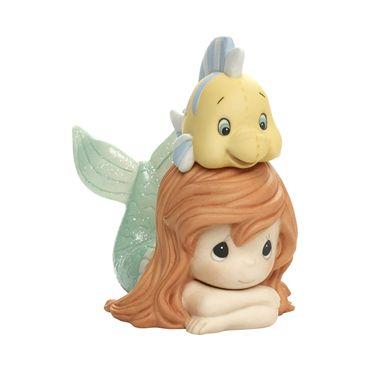 Precious Moments 171094 Girl As Ariel & Flounder