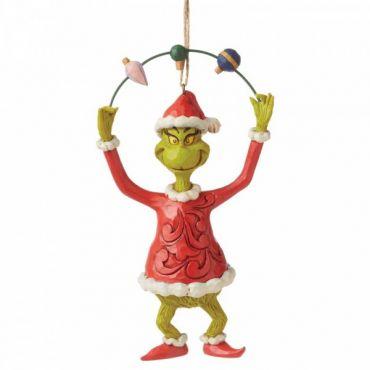 Jim Shore Grinch Juggling Ornaments Hanging Ornament