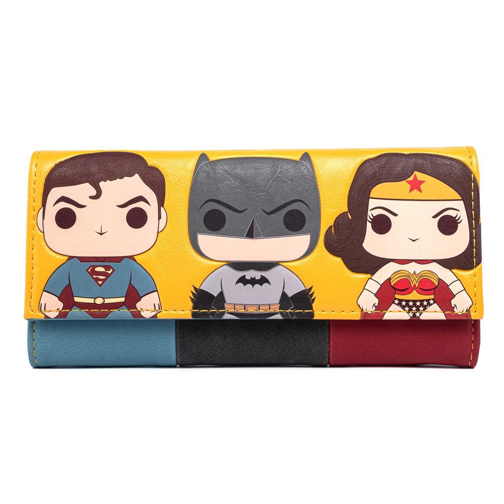 Loungefly Funko Pop DC Comics Super Trio Tri-Fold Wallet - DCCWA0025