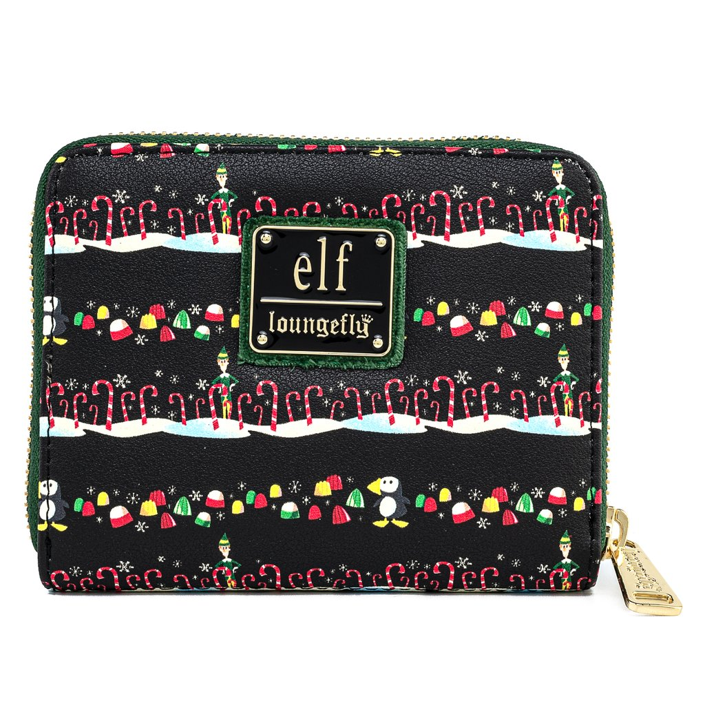 Loungefly Elf Buddy Candy Cane Forest Zip Around Wallet - ELFWA0003