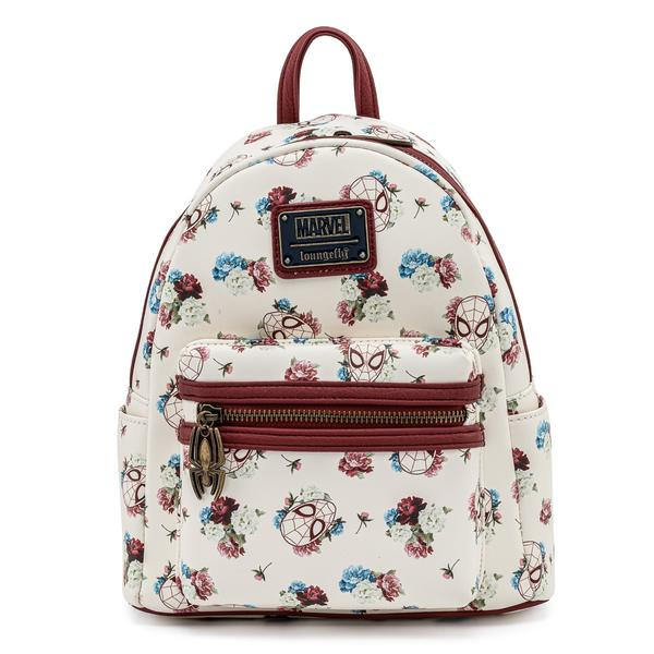 Loungefly Marvel Spiderman Floral Faux Leather Mini Backpack