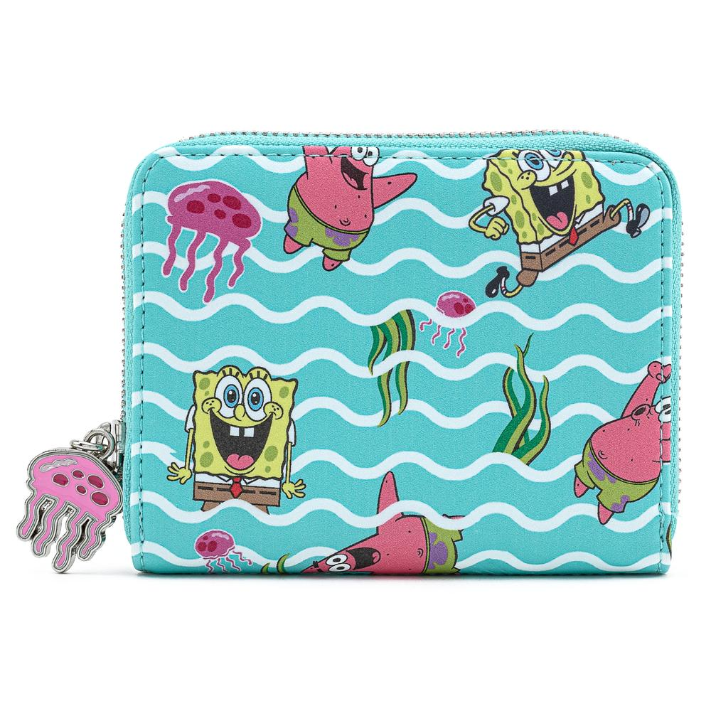 Loungefly Nickelodeon Spongebob Jelly Fishing AOP Zip Around Wallet - NICWA0004