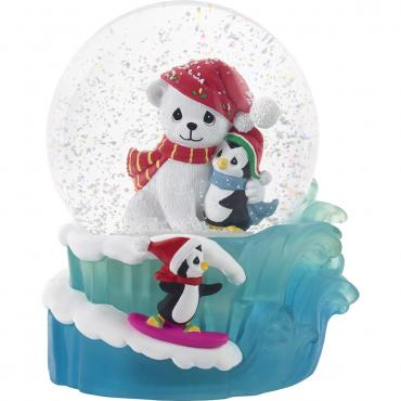 Precious Moments May Your Season Be Filled With Warm Hugs Musical Snow Globe - 201107