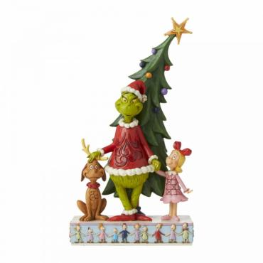 Jim Shore Grinch, Max and Cindy Decorating Tree Figurine - 6006567