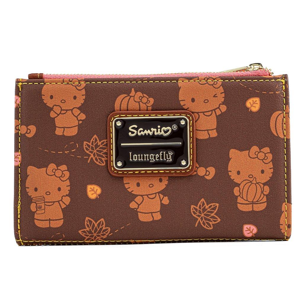 Loungefly Hello Kitty Pumpkin Spice AOP Flap Wallet - SANWA0891