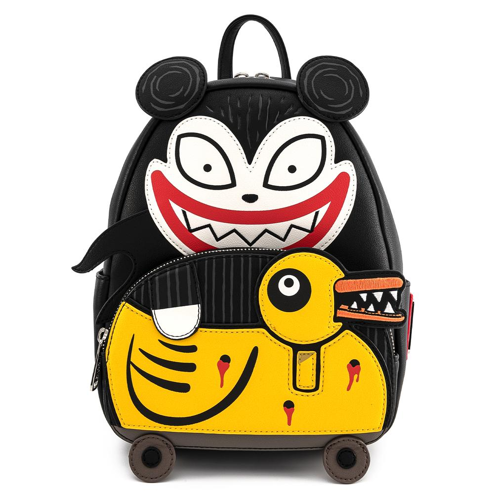 Loungefly Disney The Nightmare Before Christmas Scary Teddy and Undead Duck Mini Backpack- WDBK1225