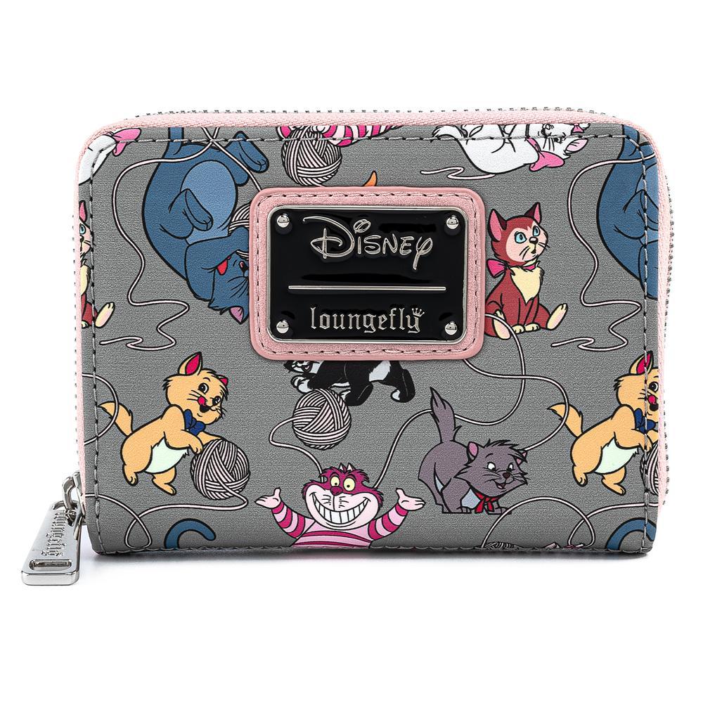 Loungefly Disney Cats AOP Zip Around Wallet - WDWA1426