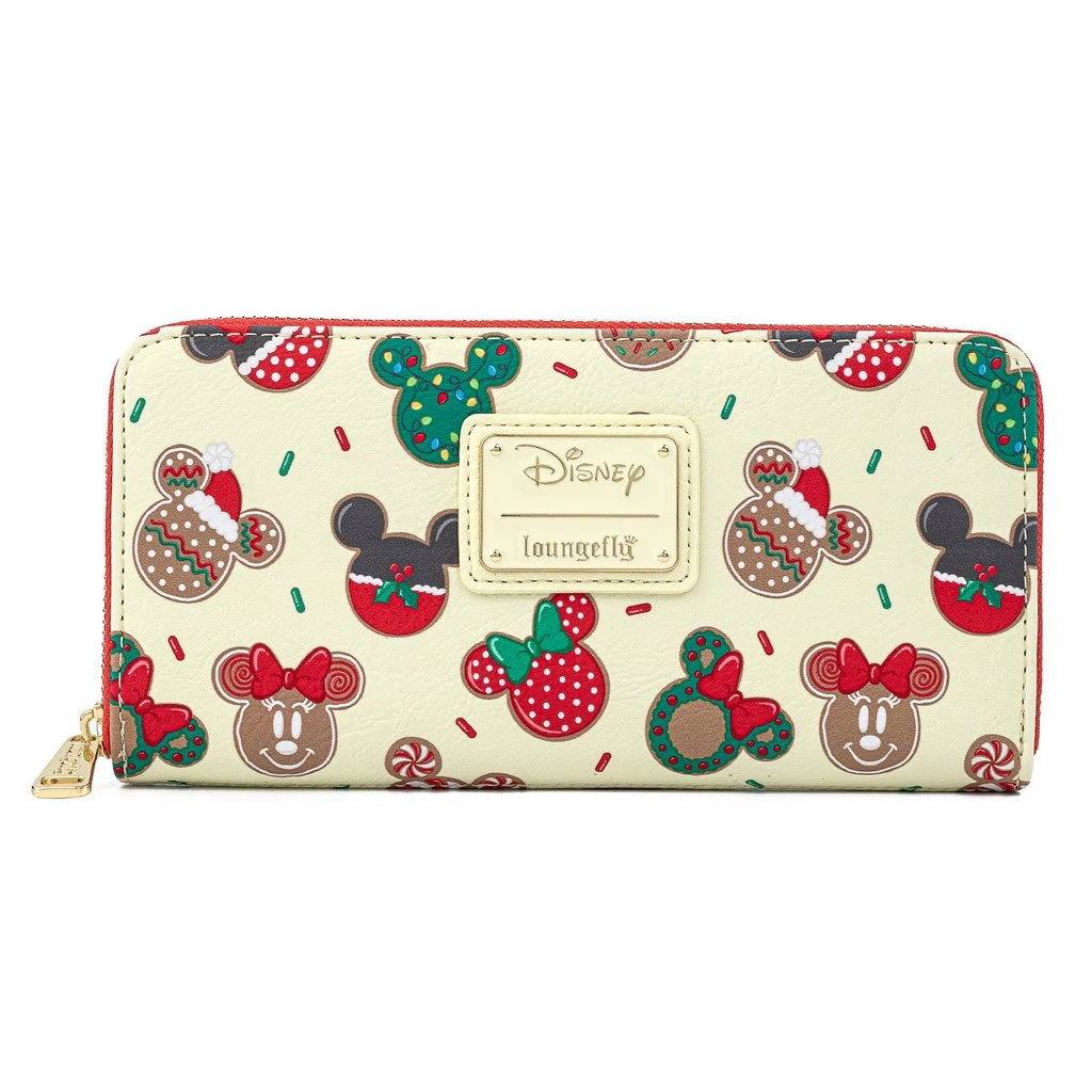 Loungefly x Disney Mickey and Minnie Mouse Christmas Cookie Purse - WDWA1492