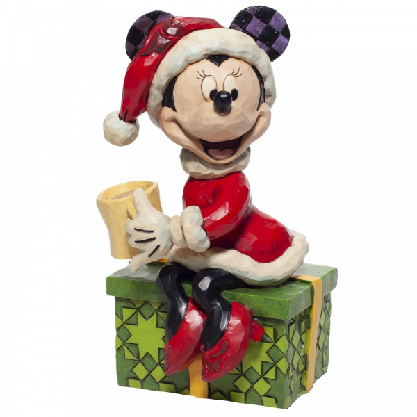 Jim Shore Disney Traditions Minnie Mouse with Hot Chocolate Figurine - 6007069