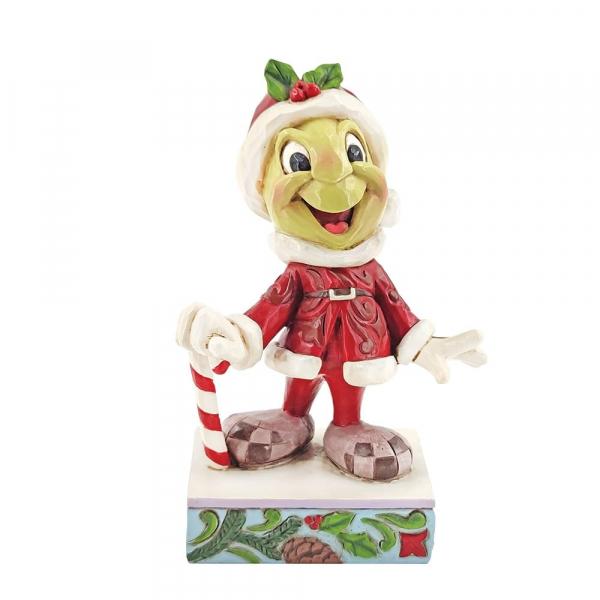 Disney Traditions Jiminy Cricket Dressed as Santa Claus - 6008986
