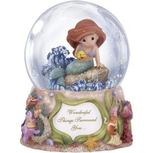 Precious Moments Disney The Little Mermaid Wonderful Things Surround You, Musical, Snow Globe - 132108