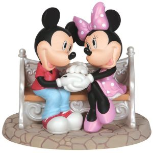 Precious Moments Disney Mickey Mouse and Minnie Mouse Every Day Is Sweeter With You, Bisque Porcelain Figurine - 142715