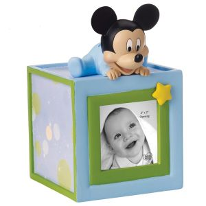 Precious Moments Disney Baby Mickey Mouse, Resin/Wood Photo Bank - 152703