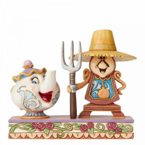 Disney Traditions *Hand Signed* Workin Round the Clock (Mrs Potts and Cogsworth) - 6002813