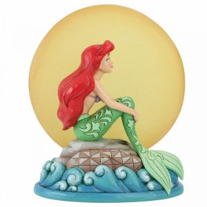 Disney Tradition Mermaid by Moonlight (Ariel with Light up Moon Figurine) - 6005954