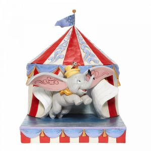 Disney Traditions Over the Big Top - Dumbo Circus out of Tent Figurine - 6008064