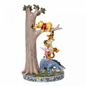 Disney Traditions Hundred Acre Caper - Tree with Pooh and Friends Figurine - 6008072