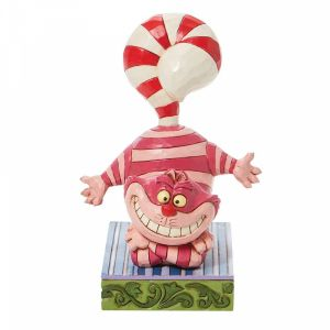 Disney Traditions Cheshire Cat with a Candy Cane Tail - 6008984