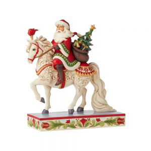 Heartwood Creek *Hand Signed* Santa on White Horse - 6006632