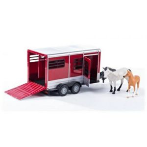 BRITAINS - 1/16 HORSE TRAILER WITH HORSES 42846