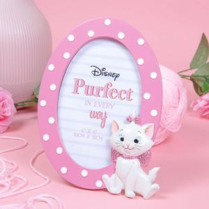 """4"""" x 6"""" - Disney Oui Marie Oval 3D Moulded Photo Frame - DI771"""