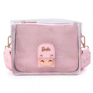 Loungefly Barbie Rose Gold Pouch and Clear Cross Body Bag - MTTB0001