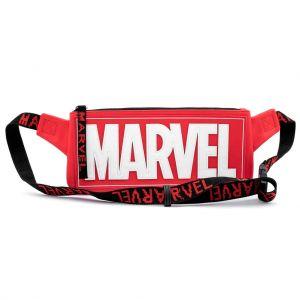 Loungefly Marvel Red Brick Logo Waist/Sling Bag - MVTB0093
