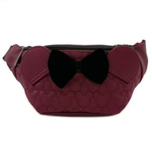 Loungefly Fanny Pack Dark Red Mickey  - WDTB1754