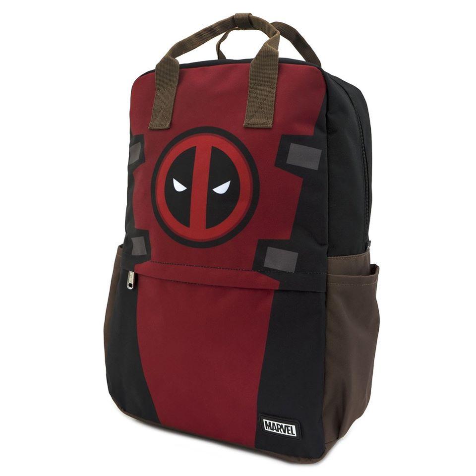 Loungfly Marvel Deadpool Cosplay Square Nylon Backpack - MVBK0093
