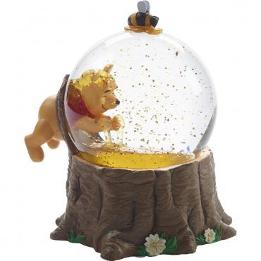Precious Moments Disney Winnie The Pooh Musical Snow Globe For The Love Of Hunny, Resin/Glass - 171708