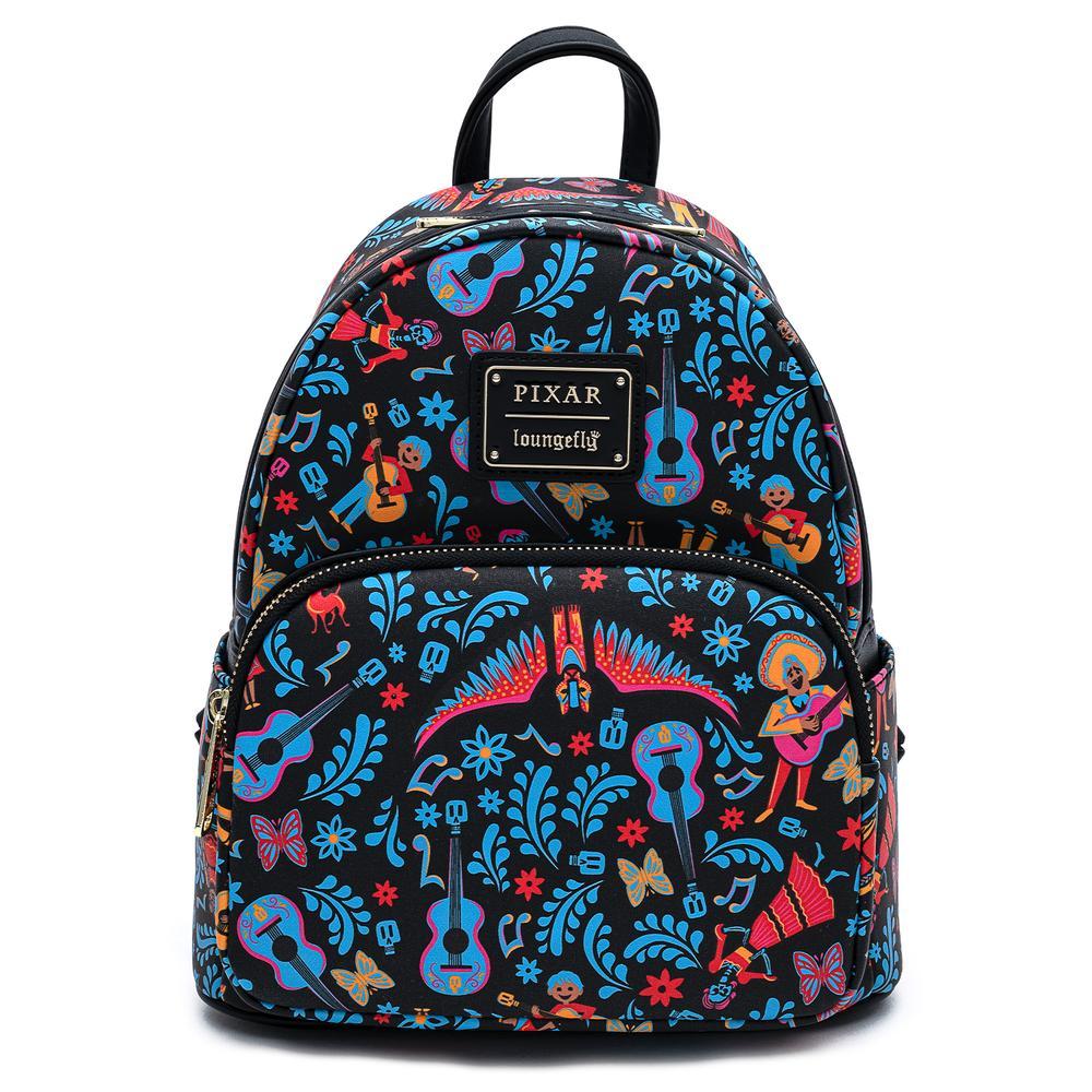 Loungefly Pixar Coco Dia De Los Muertos AOP Mini Backpack - WDBK1219