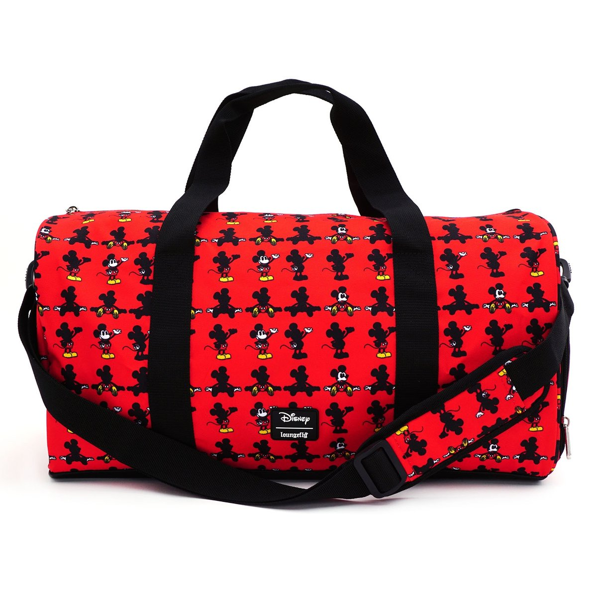 Loungefly Disney Mickey Mouse AOP Nylon Duffle Holdall Bag - WDTB1829